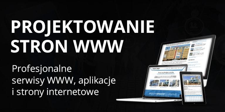 Projektowanie stron internetowych i aplikacji www.